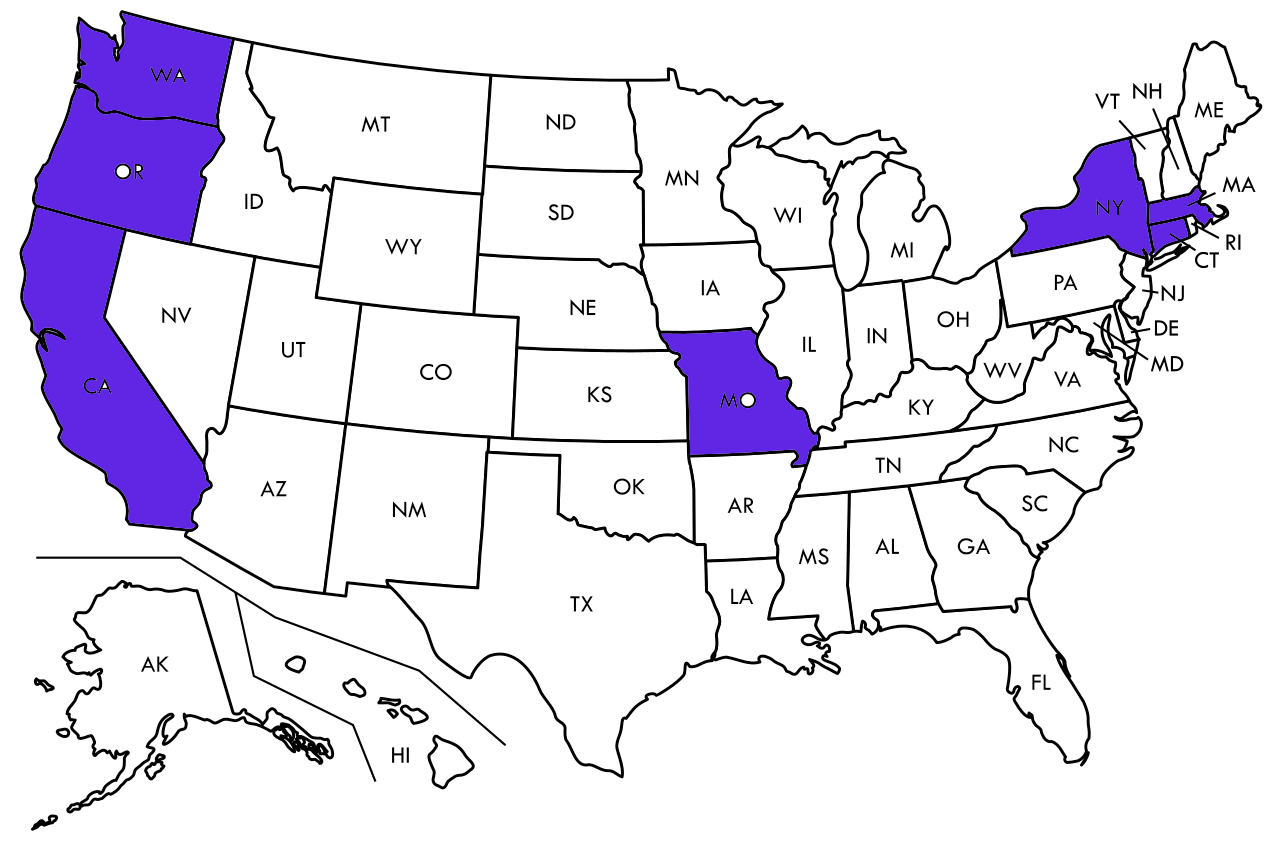 States with alternative Medicare enrollment rules
