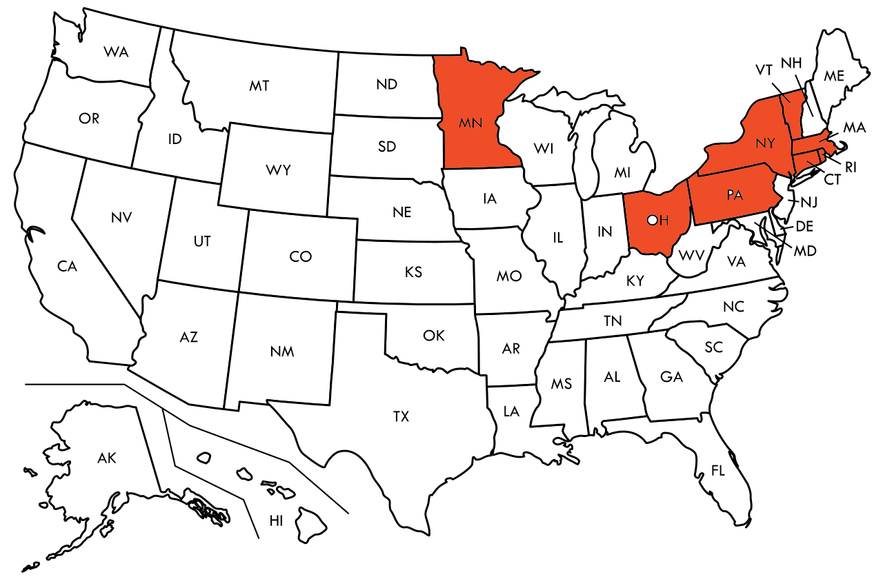 States that do not allow excess charges